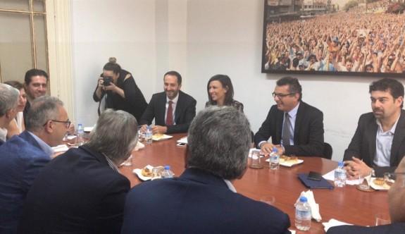 Erhürman, DİSİ başkanı Averof'la görüştü