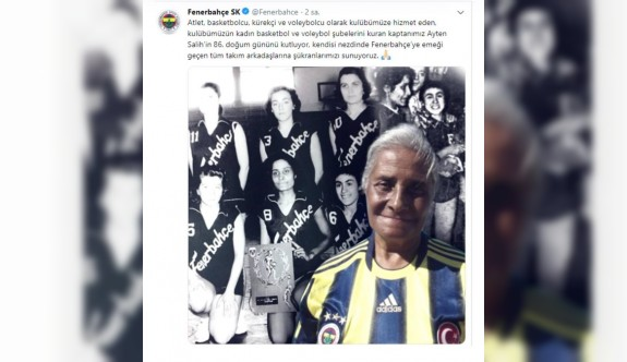Fenerbahçe, Ayten Berkalp'ı unutmadı