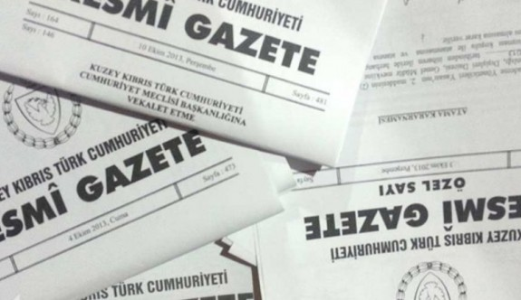Resmi Gazete'den duyurular