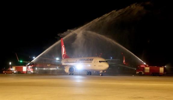 Yeni İstanbul Havalimanı'ndan ilk yurt dışı uçuş KKTC'ye yapıldı