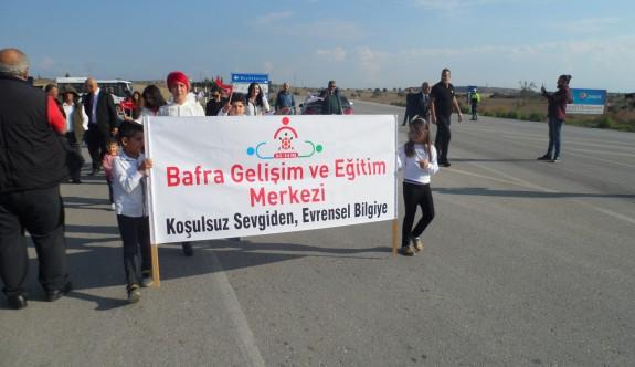 Bafra'da bandolu yürüyüş gerçekleşti
