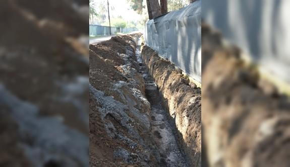 Kaymaklı-Çağlayan geçiş yolundaki yağmur suyu drenaj sorunu çözüldü