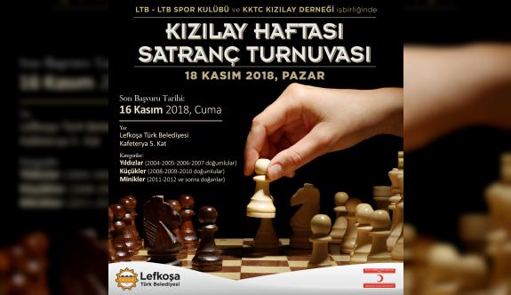 """LTB'de, """"Kızılay Haftası Satranç Turnuvası"""" yapılıyor"""