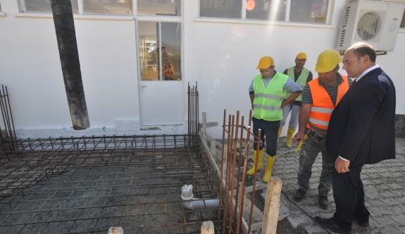 Şht. Mehmet Eray Anaokulu'na ek bina temelleri atıldı