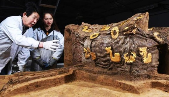 Çin'de 2.500 yıllık bir araba kalıntısı bulundu