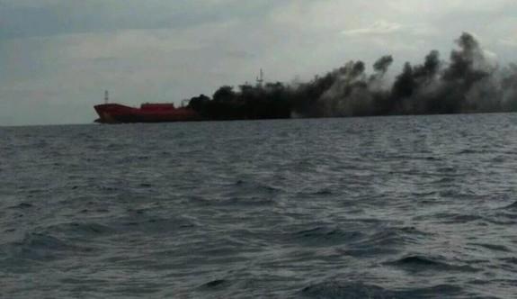 Güney Kıbrıs'ta bir yük gemisinde patlama
