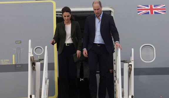 Prens William ve eşi Kate Middleton adada