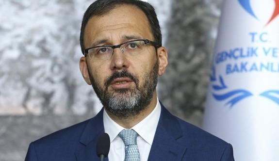 Türkiye Spor Bakanı bu akşam geliyor