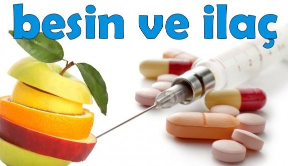 Besin ile ilaç etkileşimine dikkat edin