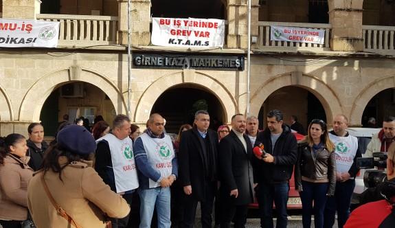 Girne Mahkemesi'nde süresiz grev uyarısı