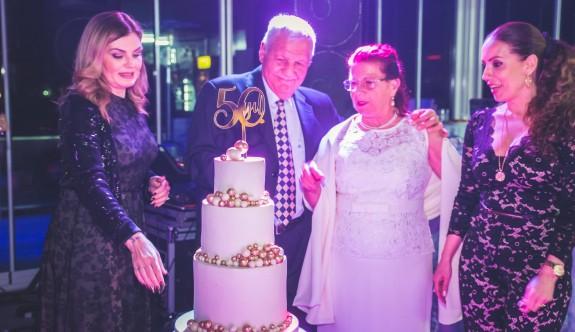 Noyan çifti 50. yıllarını kutladı