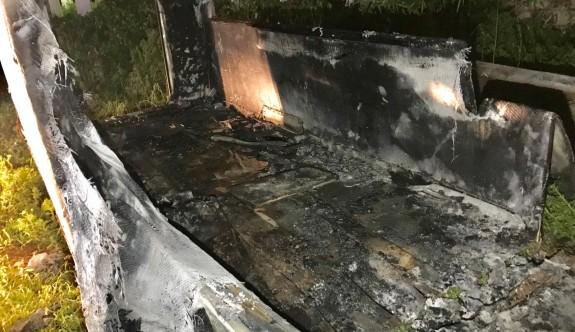 Konteynerde çıkan yangın korkuttu
