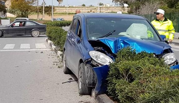 Mağusa'da heyecan yaratan kaza