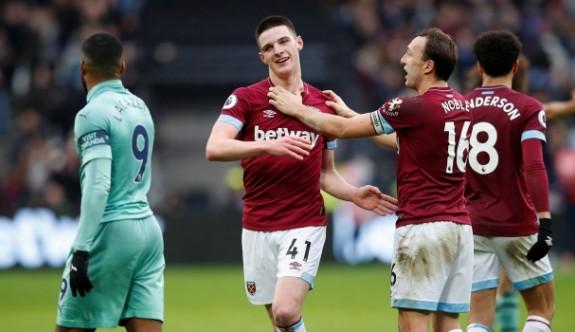 West Ham, Mesut'suz Arsenal'ı Rice ile yıktı
