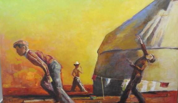 Kırgızistan halk ressamlarının 60 eseri sergileniyor