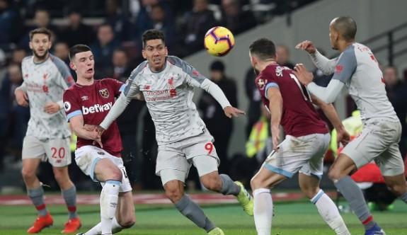 Liverpool'a West Ham çelmesi