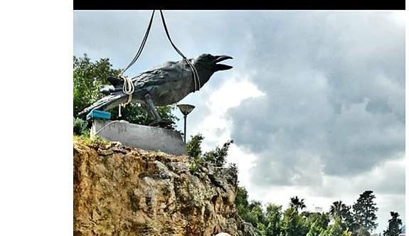 """Gazimağusa'da """"karga"""" heykelinin açılışı yarın gerçekleştirilecek"""