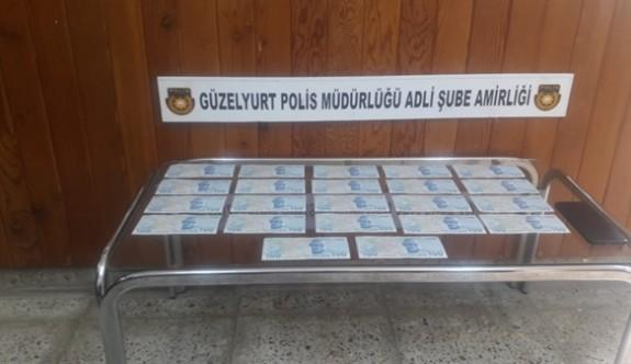 Güzelyurt'ta sahte 100 TL'lik banknot