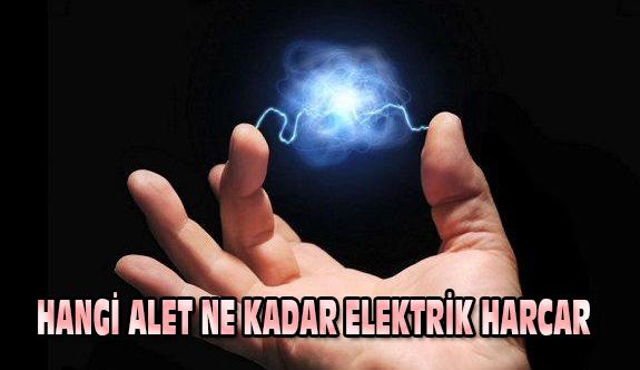 Hangi alet ne kadar elektrik harcar