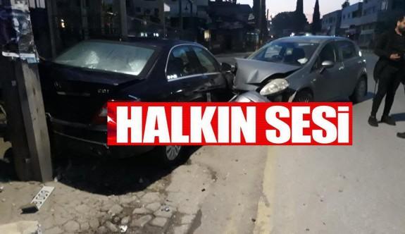 Kazadan sonra kaçmak isteyen sürücü yakalandı