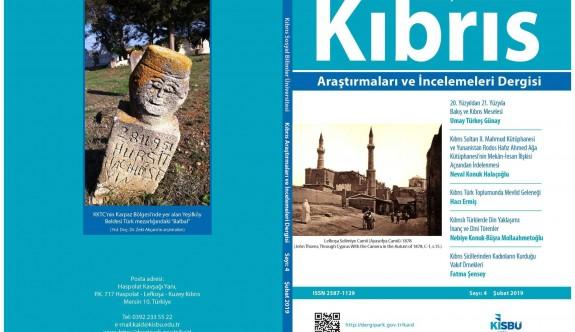 Kıbrıs Araştırmaları ve İncelemeleri Dergisi 4. sayısı yayımlandı