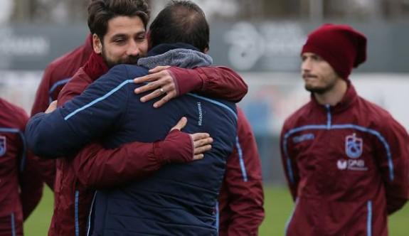 Trabzon'da Olcay Şahan antrenmana çıktı