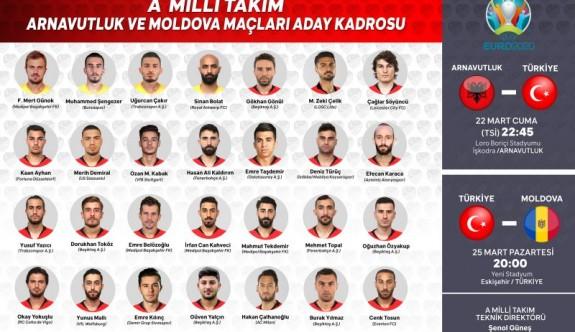 Türkiye A Milli Takımı aday kadrosu açıklandı