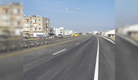 Gönyeli - Güzelyurt yolu tek yön olarak trafiğe açıldı