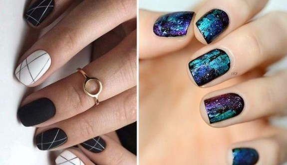 Kolay nail art modelleri