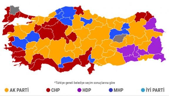 Seçimde en yüksek oyu AK Parti aldı