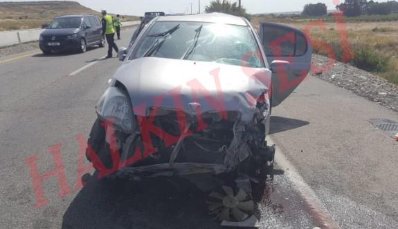Serhatköy'deki kazada 2 genç yaralandı