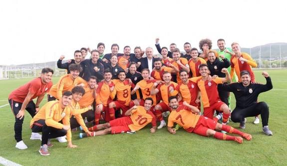Ahmet Sivri'li Galatasaray U-21 şampiyon