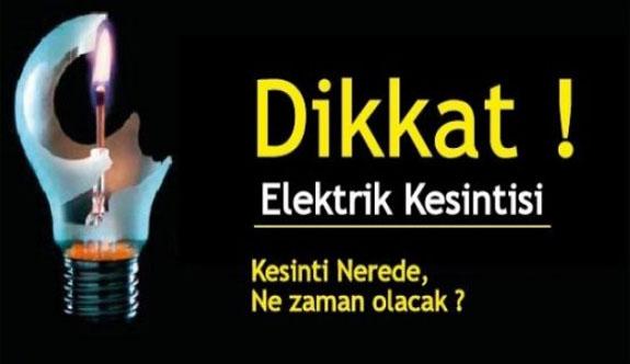 Birçok yerde elektrikler kesilecek