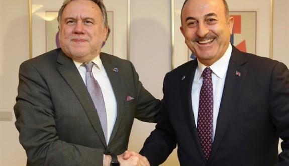 Çavuşoğlu ile Yunan mevkidaşı Finlandiya'da görüştü