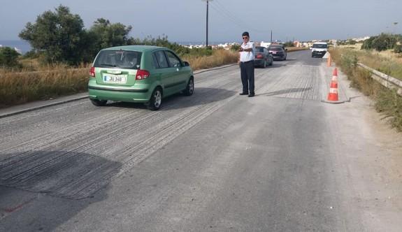 Dikkat: Girne-Esentepe arası yol tamiri var