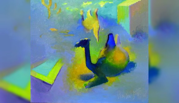 Kazakistanlı ressamların eserleri sergileniyor