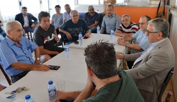 Akıncı, Taşkınköy Spor Kulübü'nü ziyaret etti
