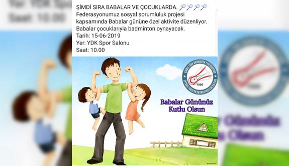 Babalar çocuklarına karşı badminton oynayacak