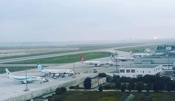 Ercan'da 9 günde 865 uçuş