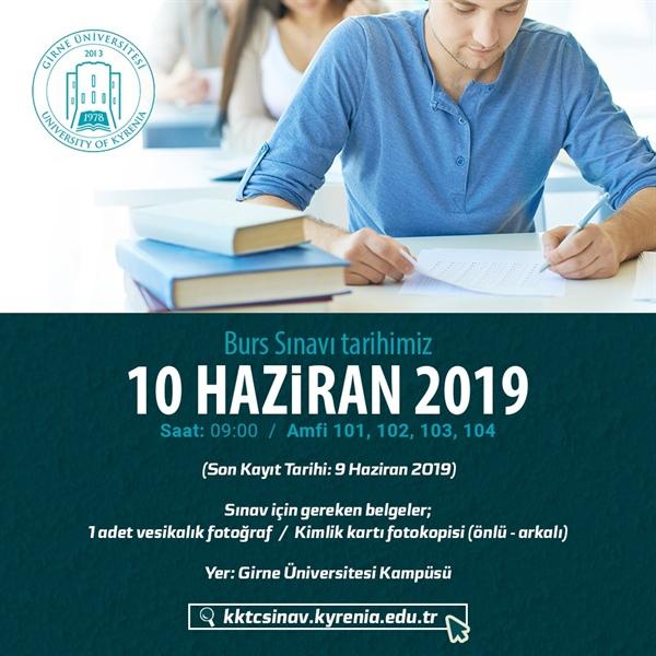Girne Üniversitesi burs sınavı 10 haziranda