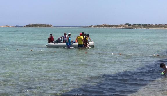Gülseren Plajı'nda 5 kişi ölümden döndü