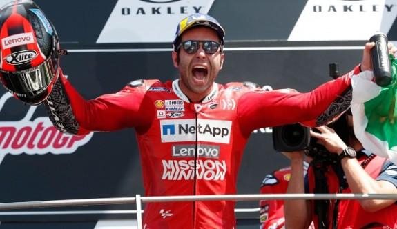 Petrucci'den MotoGP'de ilk zafer