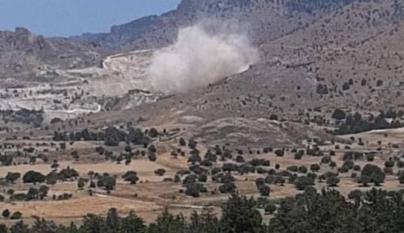 Füze değil, çakıl ocağının dinamit patlatması