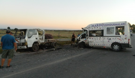 Serdarlı'da büyük kaza