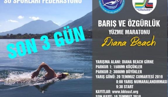 Yüzme yarışına son kayıt yarın