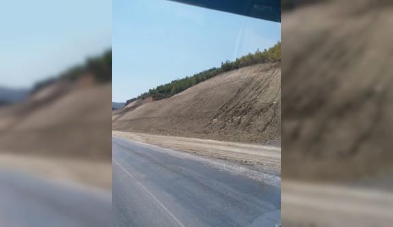 Dağyolunda sürücüleri bekleyen büyük tehlike