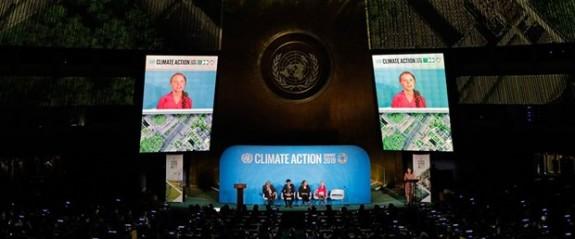 16 yasındaki iklim aktivisti Greta Thunberg BM'de konuştu
