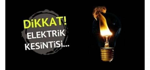 20 yerleşim yerinde 6 saatlik elektrik kesintisi olacak