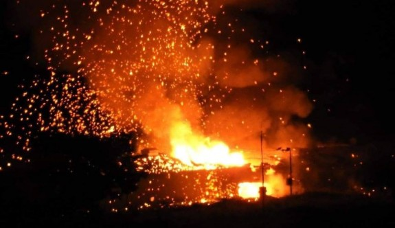 Askeri mühimmat deposu yangını: Yaralı var