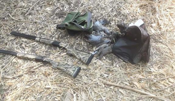 Av koruma ekipleri kaçak av yapan 2 kişiyi yakaladı